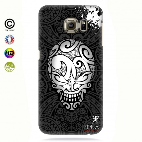 coque galaxy s6 edge B&W Skulls