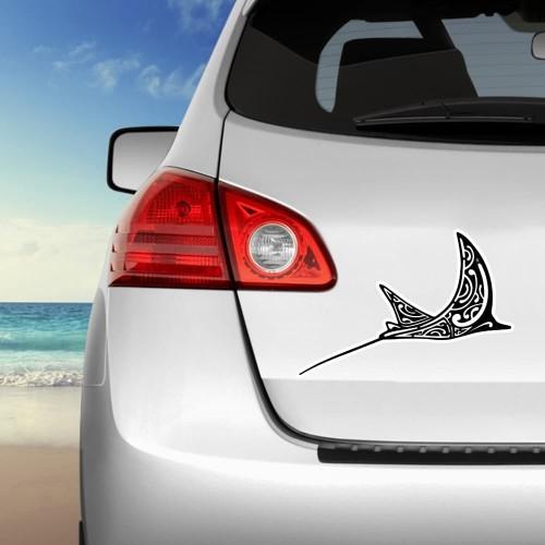 Stickers autocollants Raie Manta noir fond blanc