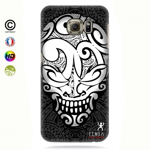 coque galaxy s6 edge Big B&W Skulls