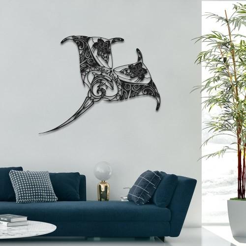 """création de décoration murale en métal """" RAIE MANTA"""" ACIER THERMOLAQUE"""