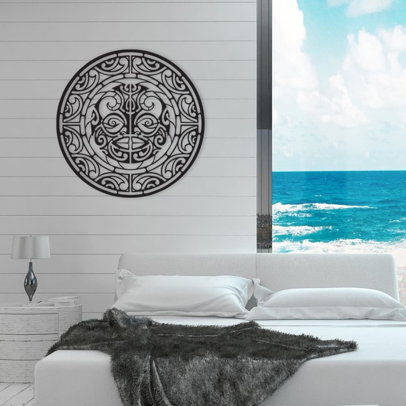 """création décoration murale en métal """" le TIKI polynésien """" ACIER THERMOLAQUE"""