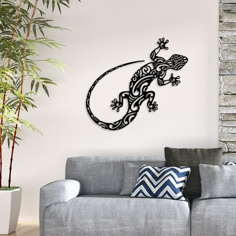 """création décoration murale en métal """" GECKO SALAMANDRE """" ACIER THERMOLAQUE"""