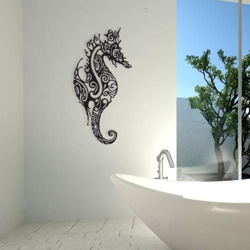 """création décoration murale en métal """" L'HIPPOCAMPE """" ACIER THERMOLAQUE"""