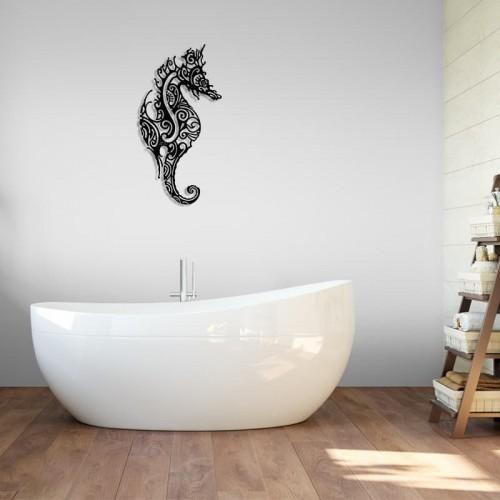 """création décoration murale en métal """" L'HIPPOCAMPE """" ACIER INOX"""
