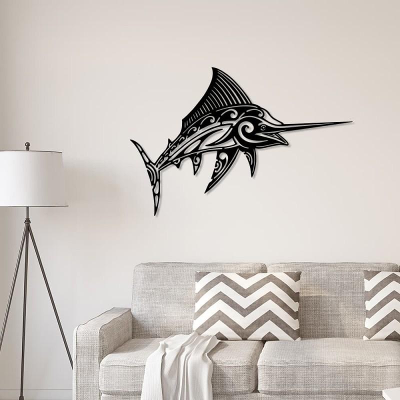 """création décoration murale en métal """" ESPADON """" ACIER THERMOLAQUE"""