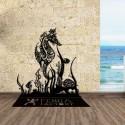 Décoration murale en métal - HIPPOCAMPE ET CORAUX SUR PIED