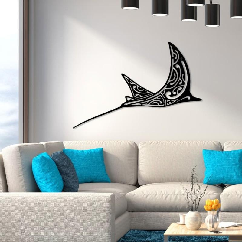 """création de décoration murale en métal """" RAIE aigle"""" ACIER thermolaqué"""