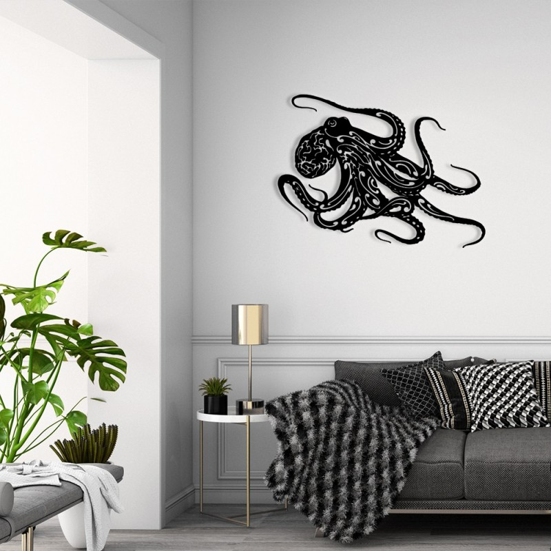 """création décoration murale en métal """" LA PIEUVRE """" ACIER THERMOLAQUE"""