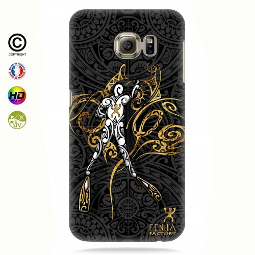 coque galaxy s7 edge gold diving