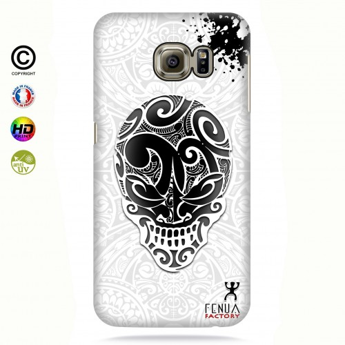 coque galaxy s7 edge B&W Skulls