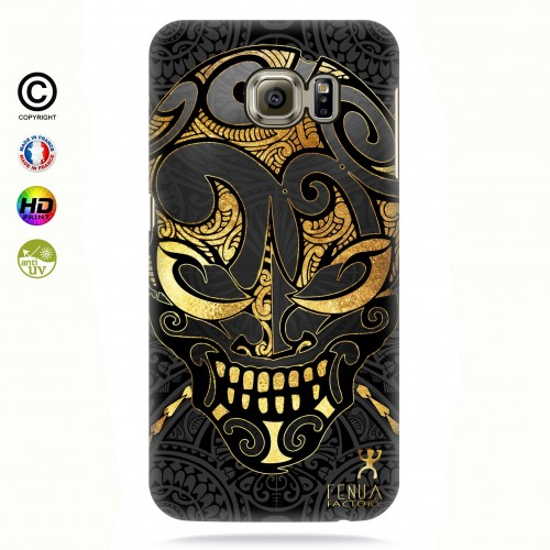 coque galaxy s7 edge Big Gold Skulls