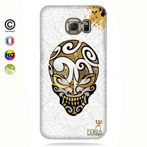coque galaxy s7 edge Gold Skulls