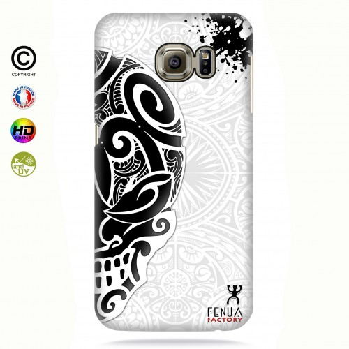 coque galaxy s7 edge Mid B&W Skulls