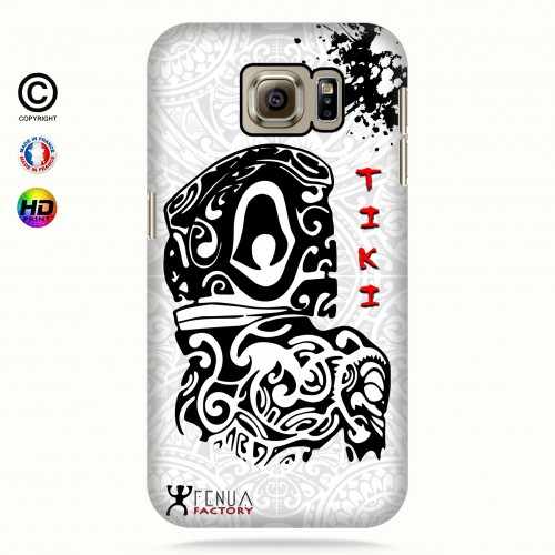 Coque galaxy s6 Tiki B&W