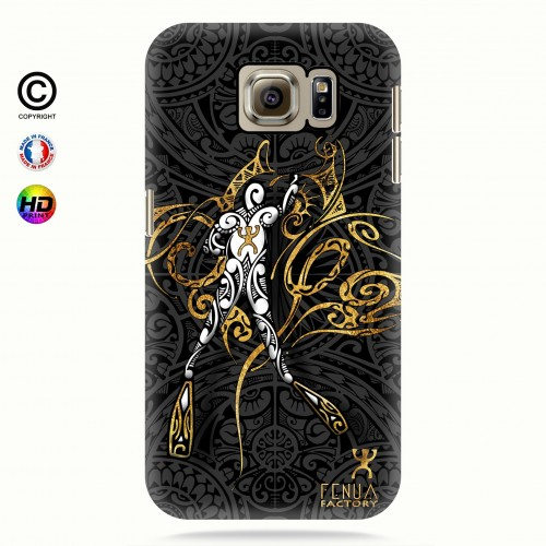 coque galaxy s6 gold diving