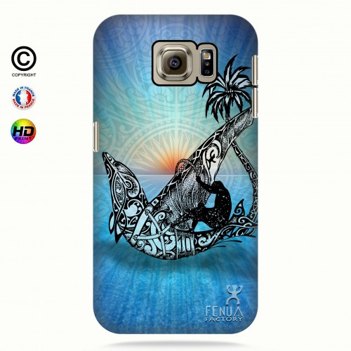 coque galaxy s6 Sunset Dolphin sailboard
