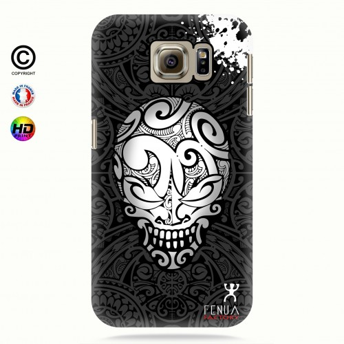 coque galaxy s6 B&W Skulls