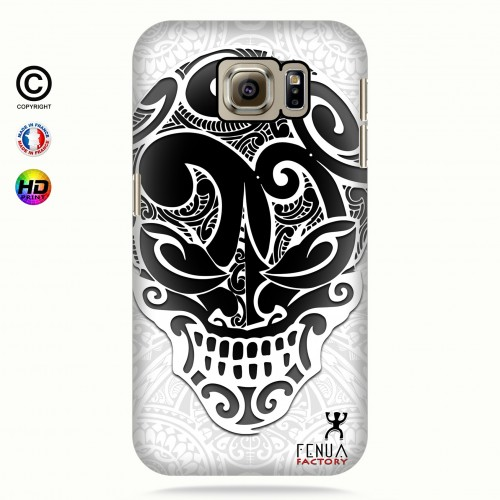 coque galaxy s6 Big B&W Skulls