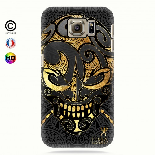coque galaxy s6 Big Gold Skulls