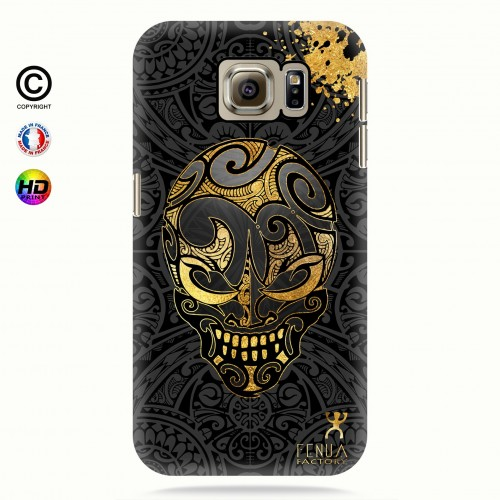 coque galaxy s6 Gold Skulls