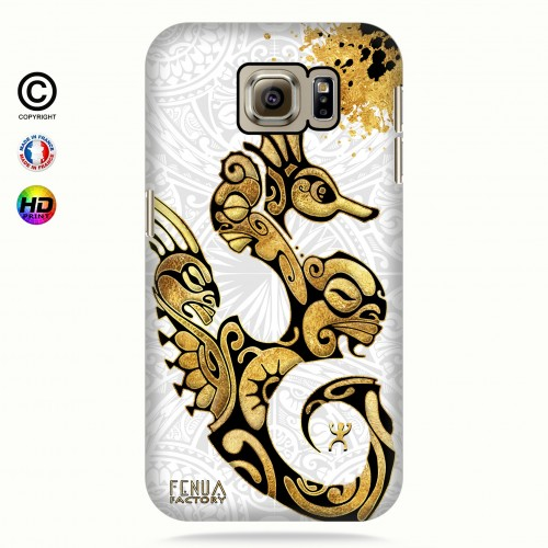 Coque galaxy s6 Hippocampe Gold