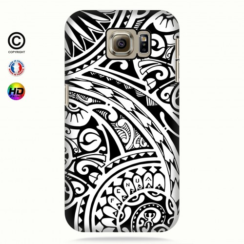 coque galaxy s6 tribal frieze b&w quart