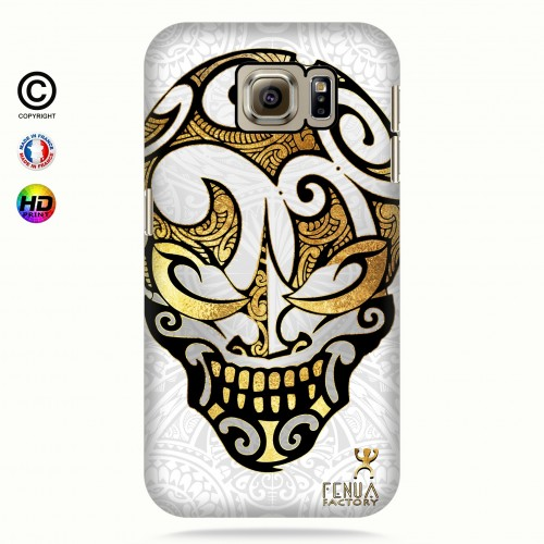 coque galaxy s7 Big Gold Skulls