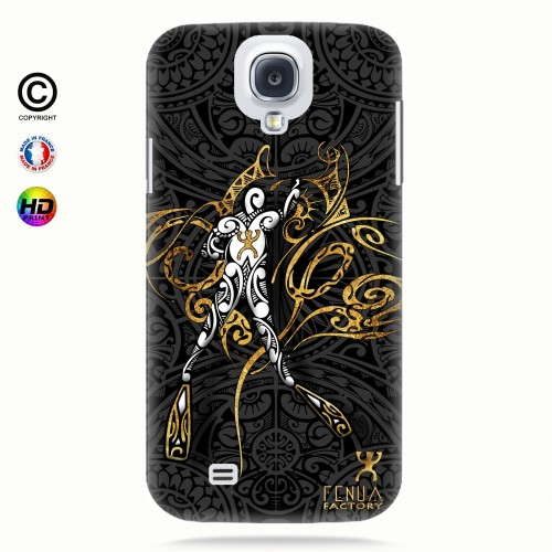 coque galaxy s4 gold diving