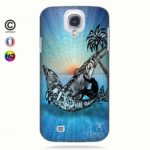 coque galaxy s4 Sunset Dolphin sailboard