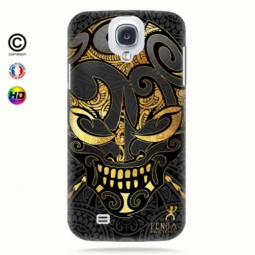 coque galaxy s4 Big Gold Skulls
