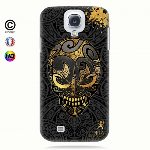 coque galaxy s4 Gold Skulls