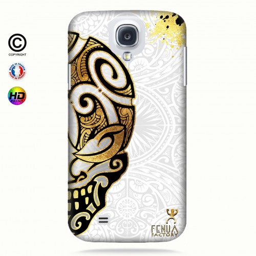 coque galaxy s4 Mid Gold Skulls