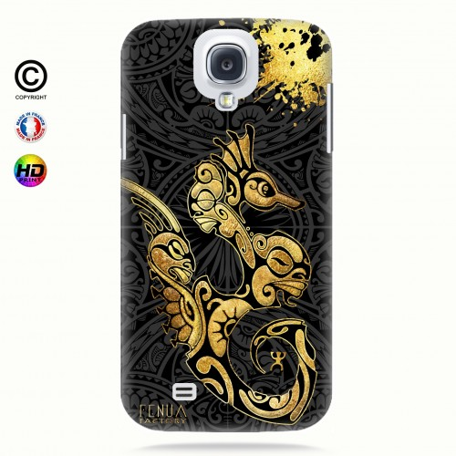 Coque galaxy s4 Hippocampe Gold
