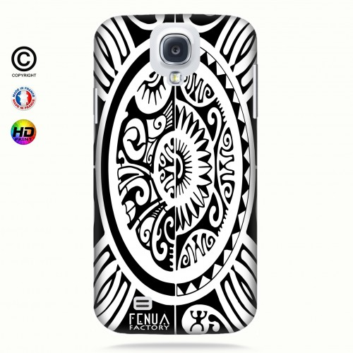 coque galaxy s4 tribal cube b&w