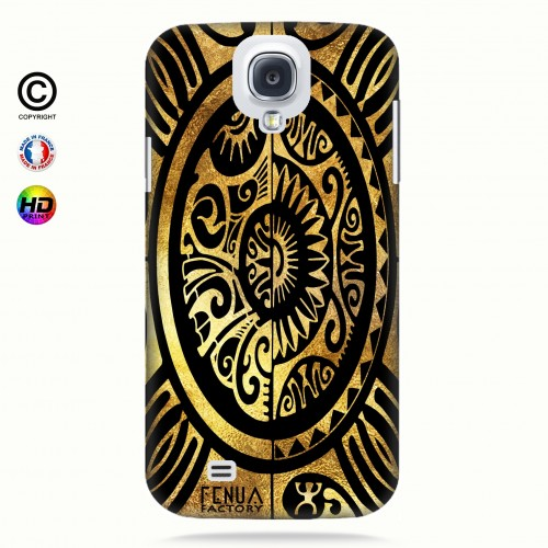 coque galaxy s4 tribal cube gold +