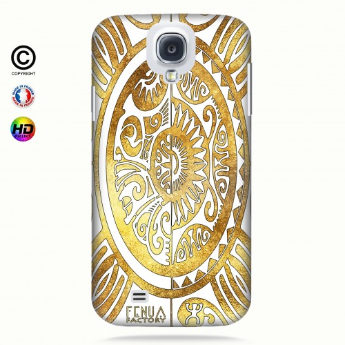 coque galaxy s4 tribal cube gold