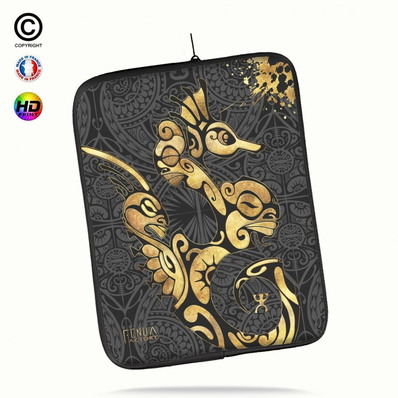 Housse universelle 12 pouces ipad 2-3-4 rétina Tortue Gold