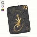 Housse universelle 12 pouces ipad 2-3-4 rétina Gecko Gold