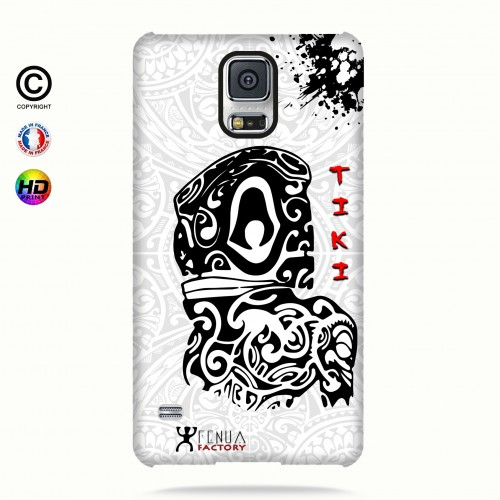 Coque galaxy s5 Tiki B&W
