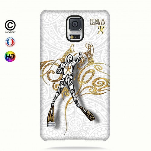 coque galaxy s5 gold diving