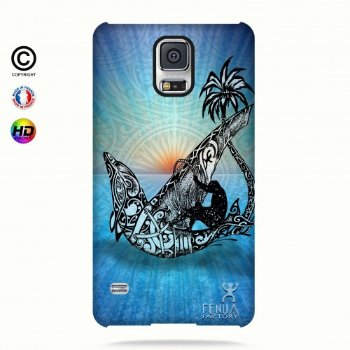 coque galaxy s5 Sunset Dolphin sailboard