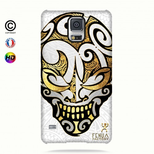 coque galaxy s5 Big Gold Skulls
