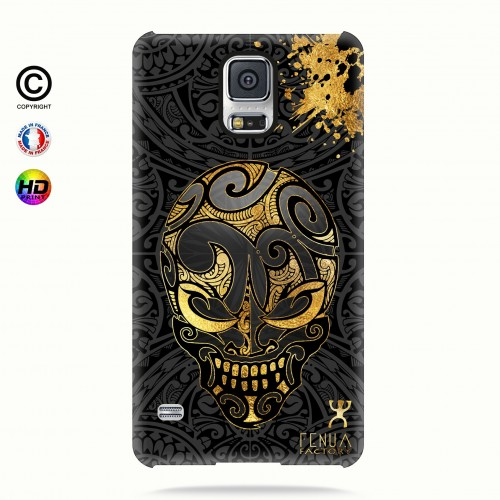 coque galaxy s5 Gold Skulls