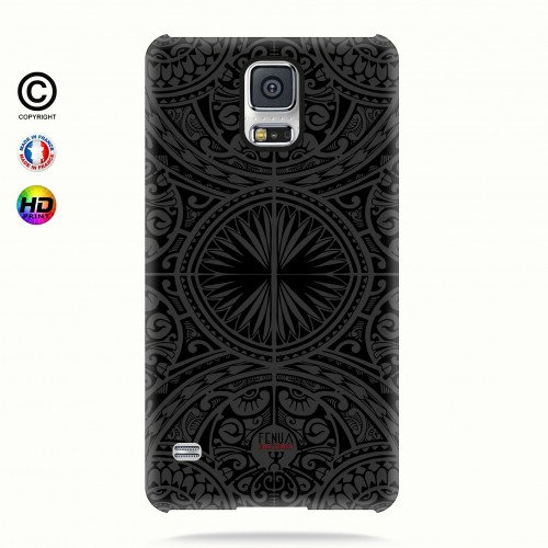coque galaxy s5 tribal frieze b&w +