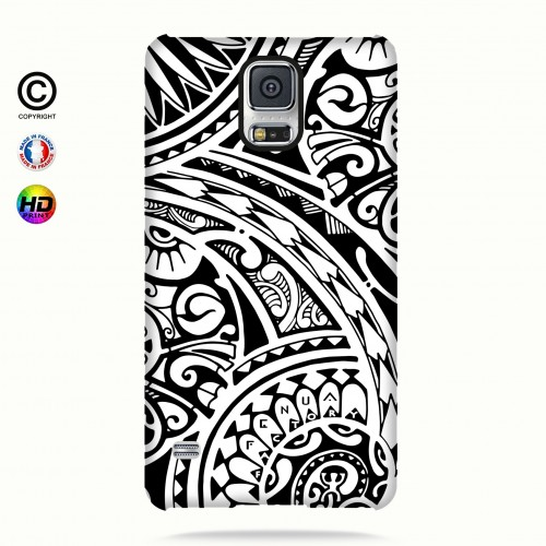 coque galaxy s5 tribal frieze b&w quart
