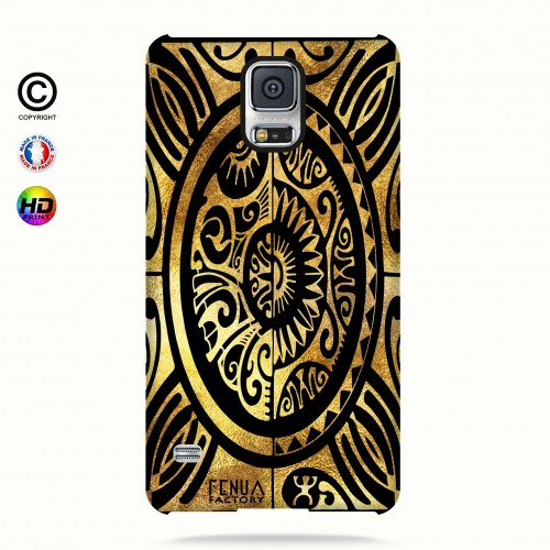 coque galaxy s5 tribal cube gold +