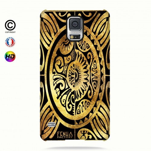 coque galaxy s5 tribal cube gold