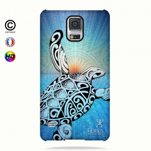 Coque galaxy s5 Turtle Sunset