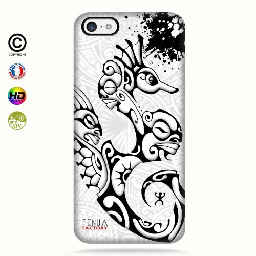 Coque iphone 5c Hippocampe B&W