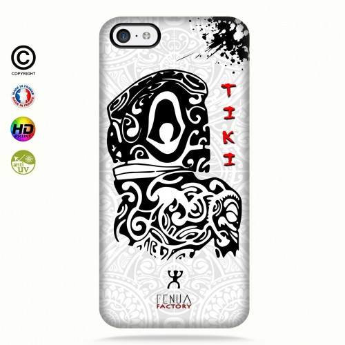 Coque iphone 5c Tiki B&W